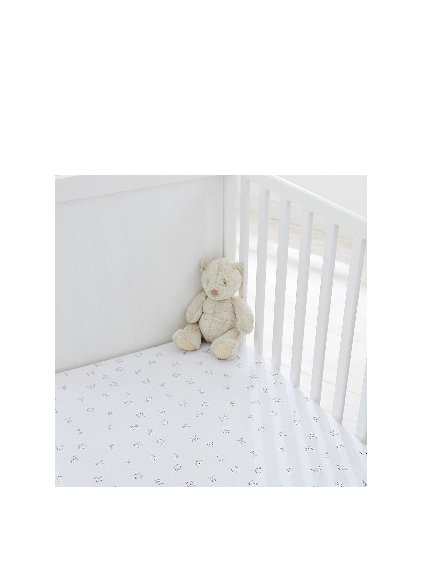 White Premium Quality 100/% Cotton 96 x 67 cm 2xTravel Cot  Fitted Sheets