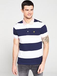 lyle-scott-wide-stripe-polo-navywhite