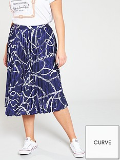 v-by-very-curve-chain-print-pleated-skirt-print