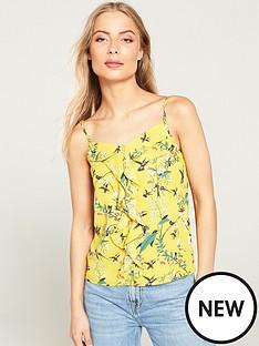 oasis-botanical-bird-square-neck-gold-bar-caminbsp--multi