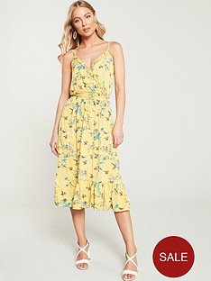 oasis-botanical-floral-ruffle-jersey-wrap-dress-multi