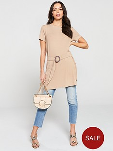 v-by-very-ribbed-belted-tunic-top-cream