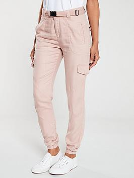 v-by-very-belted-pocket-detail-jogger-rose