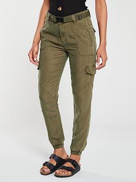v-by-very-belted-pocket-detail-jogger-khaki
