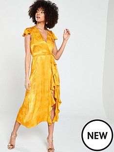 river-island-jacquard-midi-dress--ochre
