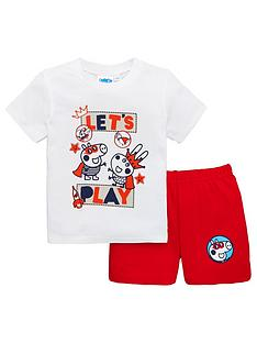 george-pig-boys-shortie-pyjamas-whitered
