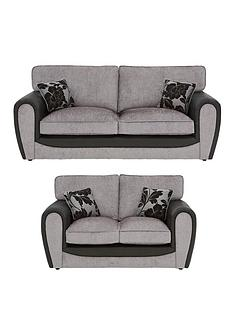 fleur-fabric-and-faux-snakeskin-3-seater-2-seater-standard-back-sofa-set-buy-and-save