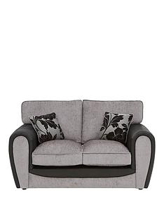 fleur-fabric-and-faux-snakeskin-2-seater-standard-back-sofa