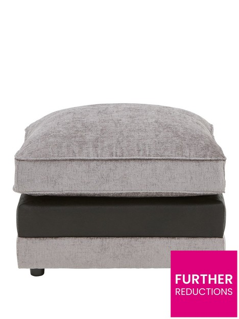 fleur-fabric-and-fauxnbspsnakeskin-footstool
