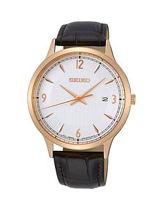 seiko-seiko-white-and-rose-gold-detail-date-dial-black-leather-strap-mens-watch
