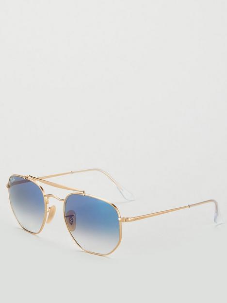 ray-ban-0rb3648nbspblue-lens-hexagonal-sunglasses