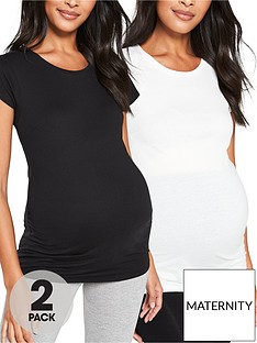 v-by-very-2-pack-maternity-tees-black-white