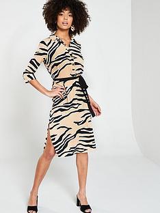 5d0eccaba River Island River Island Zebra Print Shirt Dress- Beige