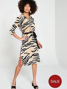 river-island-river-island-zebra-print-shirt-dress--beige
