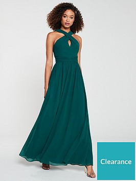 v-by-very-twist-front-maxi-dress-green