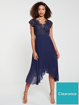 v-by-very-bridesmaid-lace-pleated-occasion-dress-navy