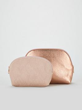 v-by-very-curved-2-pack-cosmetic-bags-rose-gold