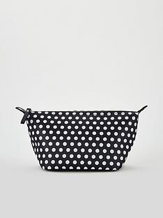 v-by-very-spot-print-cosmetic-bag-black
