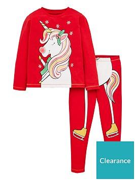 v-by-very-girls-christmas-ice-skating-unicorn-pyjama-set-red