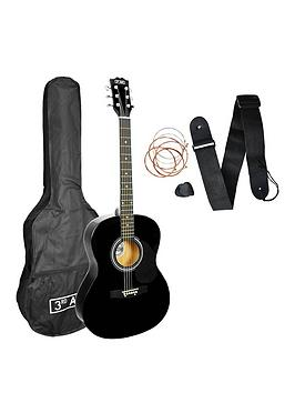 3rd-avenue-3rd-avenue-acoustic-guitar-pack-black-with-free-online-music-lessons