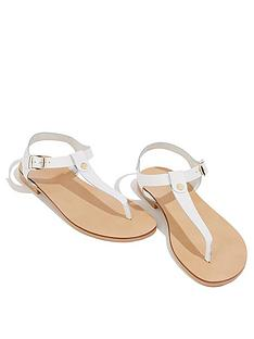 oasis-leather-toe-post-sandals-white