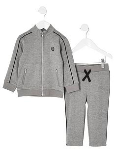 river-island-mini-mini-boys-check-jogger-outfit-grey