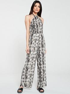 warehouse-snake-halter-jumpsuit-multi
