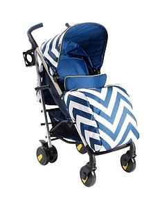 my-babiie-mb51-blue-chevron-stroller
