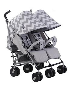 my-babiie-billie-faiers-mb22-grey-chevron-twin-strolle