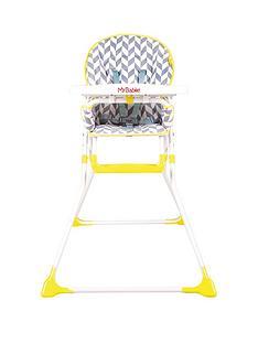 my-babiie-my-babiie-mbhc1hb-herringbone-compact-highchair