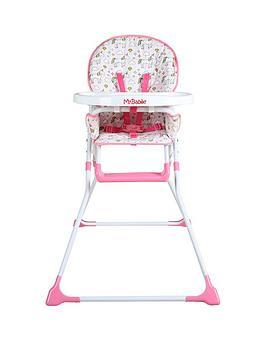 my-babiie-mbhc1un-unicorn-compact-highchair