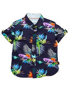 048e9353f1c162 Baker by Ted Baker Toddler Boys Tropical Short Sleeve Shirt - Multi