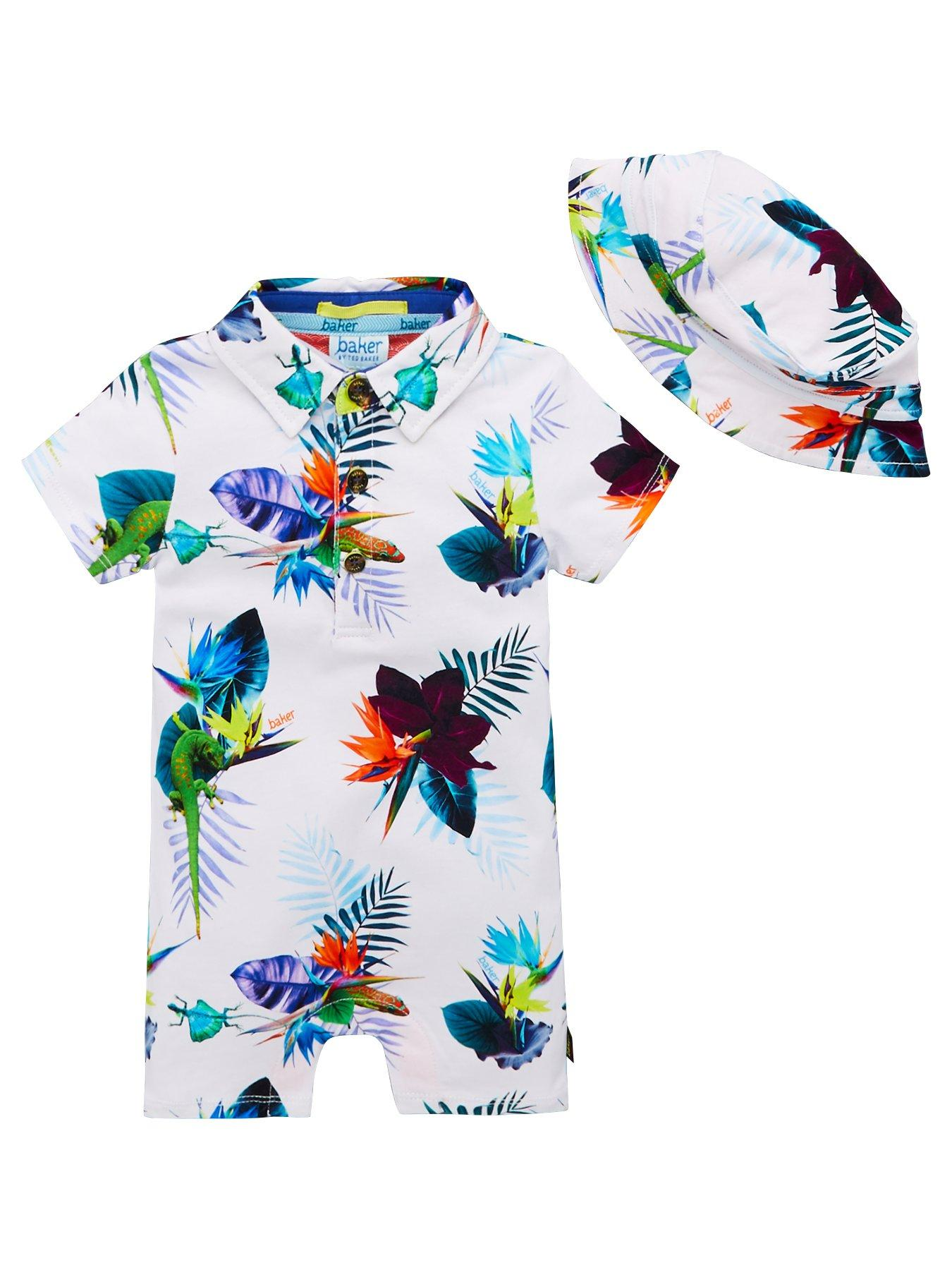 Dashing Baby Boy Ted Baker Summer Romper 3-6m One-pieces