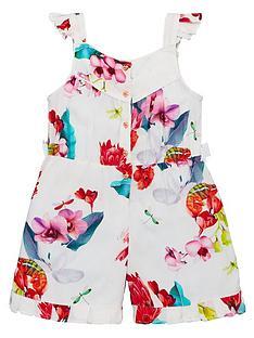ee13840500c Baker by Ted Baker Toddler Girls Viscose Floral Playsuit - Off White