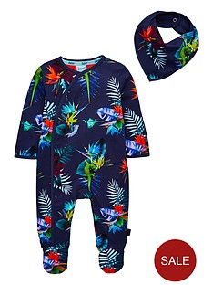 baker-by-ted-baker-baby-boys-tropical-print-sleepsuitnbsp--navy