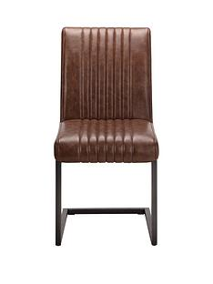julian-bowen-pair-of-brooklyn-faux-leather-and-metal-cantilever-dining-chairs