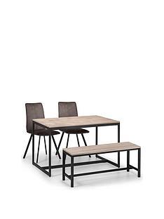 julian-bowen-tribeca-120-cm-dining-table-2-monroe-chairs-bench