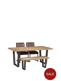 julian-bowen-brooklyn-180-cm-metal-and-solid-oak-dining-table-2-chairs-bench
