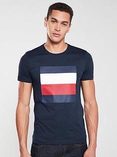 tommy-hilfiger-printed-box-logo-t-shirt-navy
