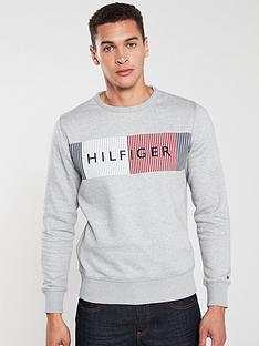 tommy-hilfiger-box-logo-sweatshirt-grey
