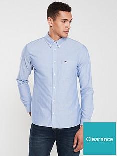 tommy-jeans-logo-oxford-shirt-blue