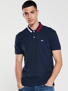 tommy-jeans-contrast-collar-logo-polo-shirt-navy