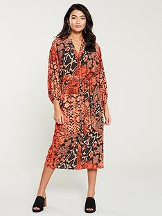 wallis-sunset-snake-shirt-dress-orange