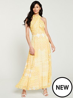 f039457d4c5 Wallis Tile Print Twist Maxi Dress - Yellow