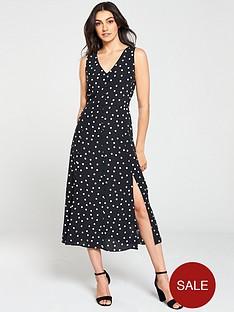wallis-spot-roulot-dress-monochrome