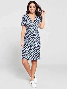 v-by-very-wrap-printed-mini-dress-zebra-print