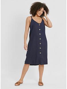 evans-linen-button-through-dress