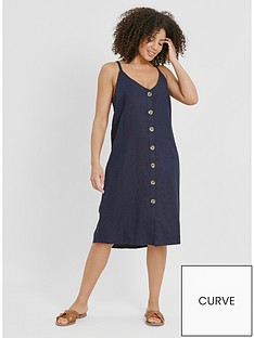 evans-linen-button-through-dress