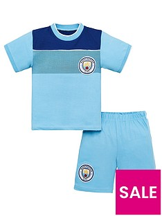 manchester-city-football-kit-childrens-shorty-pyjamas-multi