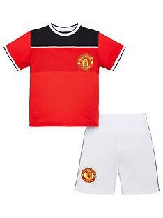 manchester-united-football-kit-shorty-pyjamas-multi